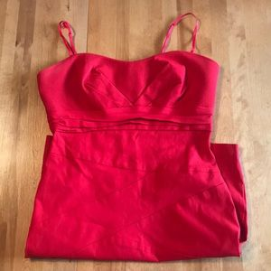 Vibrant Red Body-con Style Dress